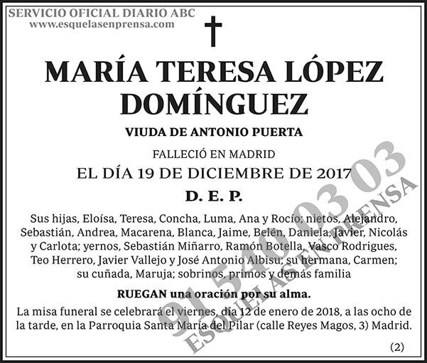 María Teresa López Domínguez